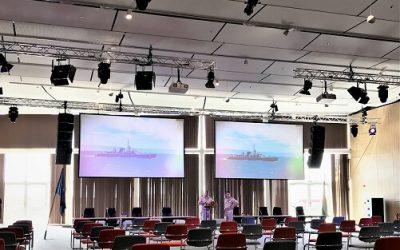"""Екипът ни завърши работа по инсталация на системите по Озвучаване, конферентно оборудване, сценично осветление и мултимедия за""""Конгресен център"""" на Морска Гара – Бургас"""