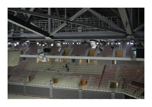 Специализирани озвучителни тела в зала Арена Армеец
