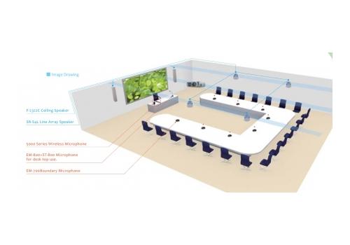 Озвучително оборудване за зала за семинари и конференции