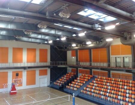 спортна зала озвучителна система Благоевград