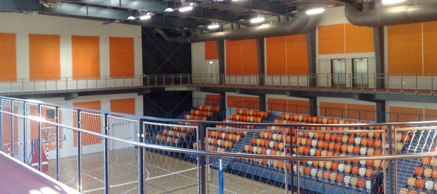 озвучителни тела за спортна зала в университет